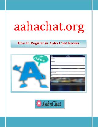 How to Register in Aaha Chat Rooms | aahachat.org