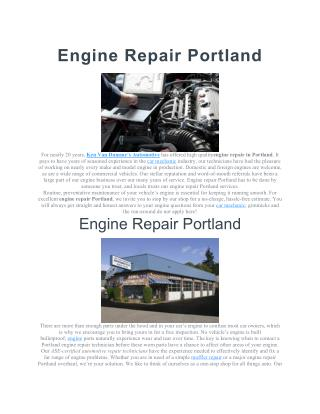 Engine Repair Portland