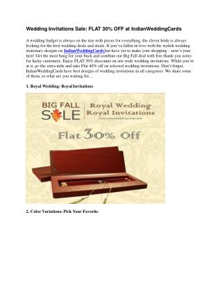 Wedding Invitations Sale: FLAT 30% OFF at IndianWeddingCards