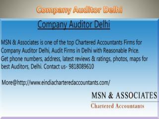Company Auditor Delhi