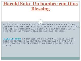 Harold Soto- Un hombre con Dios Blessing