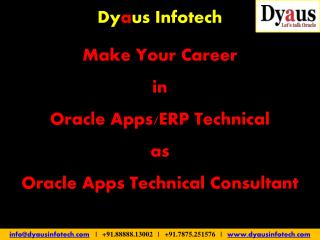 Oracle Apps Technical Training in Pune Kharadi - Dyaus Infotech