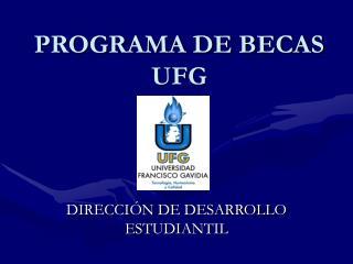 PROGRAMA DE BECAS UFG