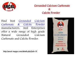 Grounded calcium Carbonate & calcite powder