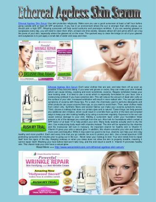 http://www.wecareskincare.com/ethereal-ageless-skin-serum/