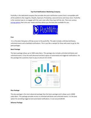 Top Push Notifications Marketing Company