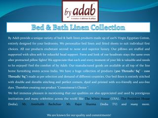 By Adab - 100% Cotton Luxury Bed & Bath Linen