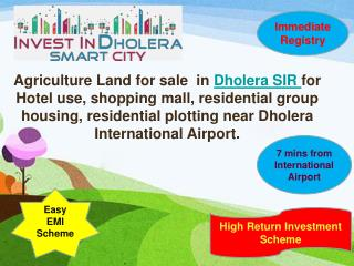Raw land sale in Dholera