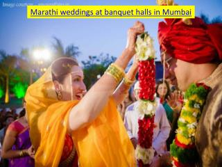 Marathi weddings at banquet halls in Mumbai