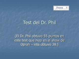 Test del Dr. Phil