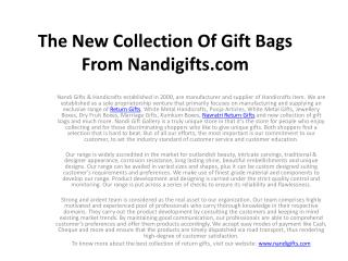 Buy The New Collection Of Gift Bags From Nandigifts.com