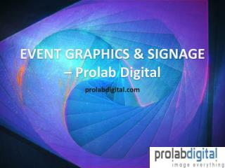 Overview of Different Event Graphics and Signage