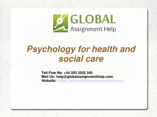 Psychology for health and social care