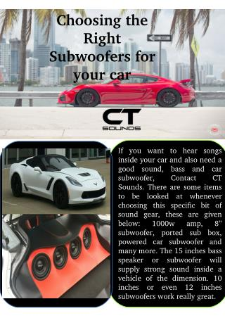 Choose 6.5 Speakers for Car