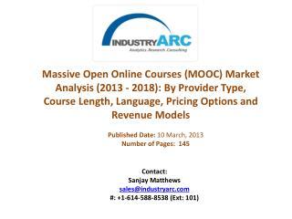 Massive Open Online Courses (MOOC) Market Analysis (2013 - 2018) | IndustryARC