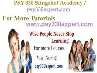 PSY 330 Slingshot Academy / psy330expert.com