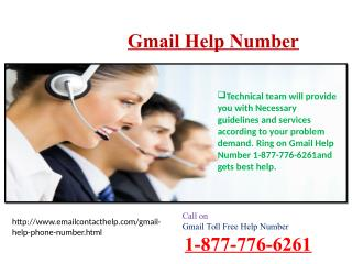 Troubleshoot lost Gmail account issue call 1-877-776-6261 Gmail Helpline