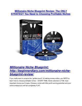 Millionaire Niche Blueprint DEMO & BONUS