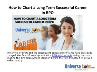 How to Chart a Long Term Successful Career in BPO