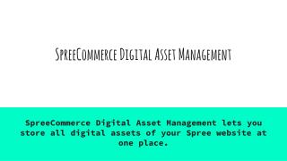 Spree Commerce Digital Asset Management