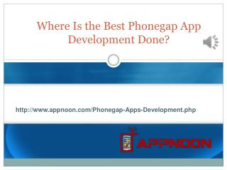 Where Is the Best Phonegap App Development Done?
