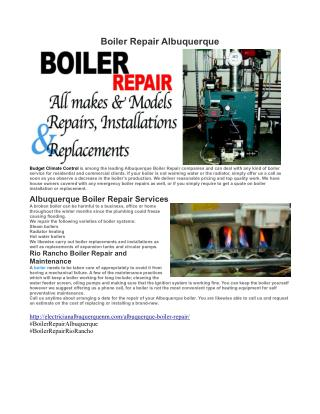 Boiler Repair Albuquerque