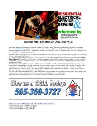 Residential Electrician Albuquerque