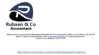 Bookkeeping Birmingham