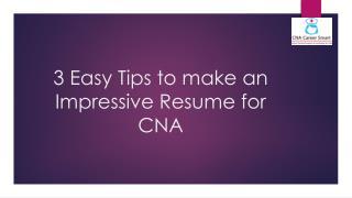 Resume for CNA