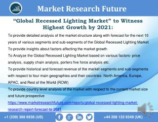 Global Recessed Lighting Market Research Report - Forecast to 2021