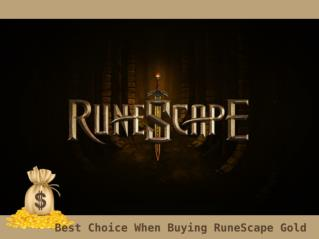 Best Choice When Buying RuneScape Gold