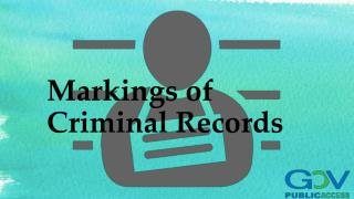 Markings of Criminal Records