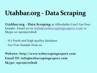 Utahbar.org - Data Scraping