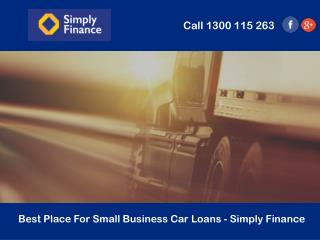 Best Place For Small Business Car Loans - Simply Finance
