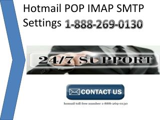 hotmail  toll free 1-888-269-0130 number