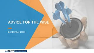 Advice for the Wise - Karvy Private Wealth Report 2016