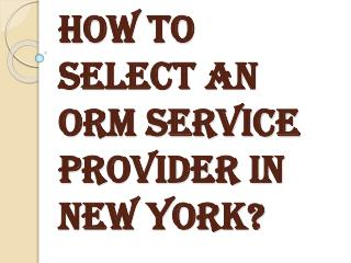 How to Choose the Best ORM Service Provider?