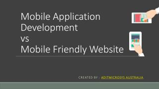 Mobile Application VS Mobile Website Development