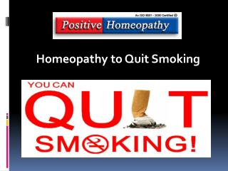 Homeopathy to Quit Smoking
