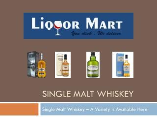 Online Single Malt Whiskey in NZ