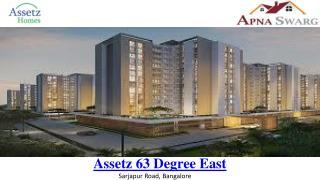 Assetz 63 Degree East New Launch Apartmenrs in Bangalore