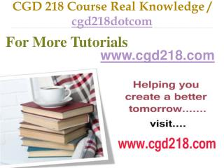 CGD 218 Course Real Tradition,Real Success / cgd218dotcom