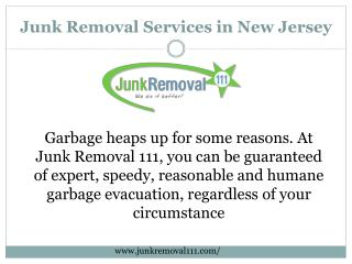 Take the Advantage of Junk Removal Services in New Jersey