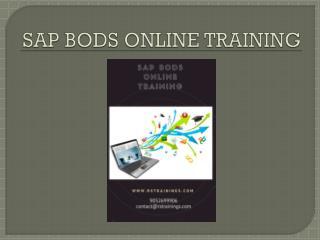 SAP BODS course material|course content|sap bods Online training