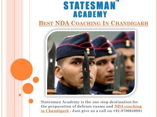 Best NDA Coaching in Chandigarh – Statesman Academy