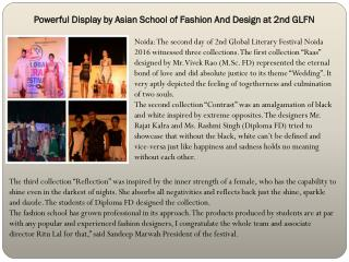 Powerful Display by Asian School of Fashion And Design at 2nd GLFN