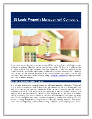 St Louis Property Management Company
