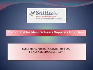 Electric Cables Manufacturers Noida, Electric Power cables Suppliers India