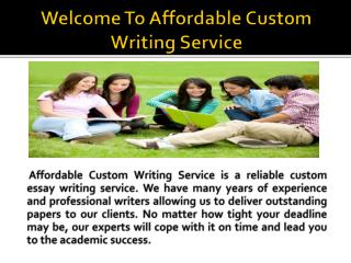 Buy affordable papers at competitive price at affordablecustomwriting