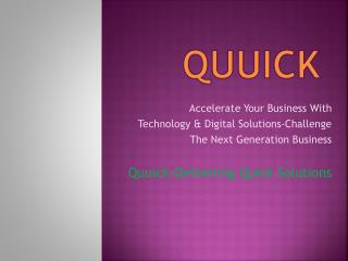Quuick | Best IT & Digital Marketing Service Provider